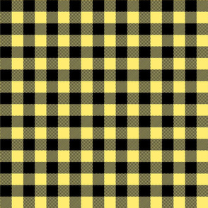 buffalo plaid 1in lemon yellow