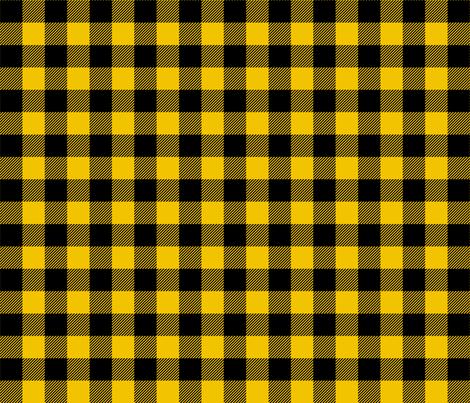 buffalo plaid 1in mustard yellow fabric by misstiina on Spoonflower - custom fabric
