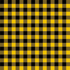 buffalo plaid 1in mustard yellow