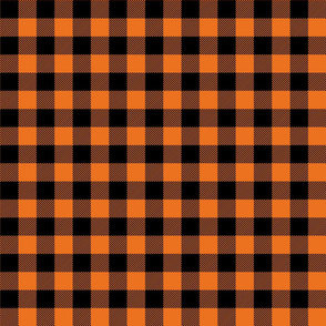 buffalo plaid 1in orange