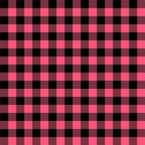 buffalo plaid 1in hot pink