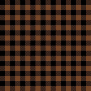 buffalo plaid 1in chocolate brown