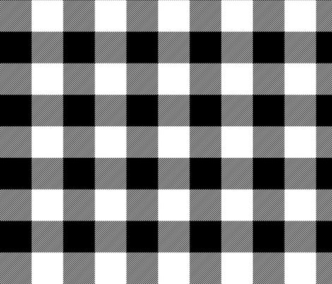 buffalo plaid 2in black and white fabric by misstiina on Spoonflower - custom fabric
