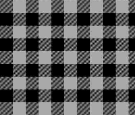 buffalo plaid 2in grey fabric by misstiina on Spoonflower - custom fabric