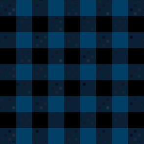 buffalo plaid 2in navy blue