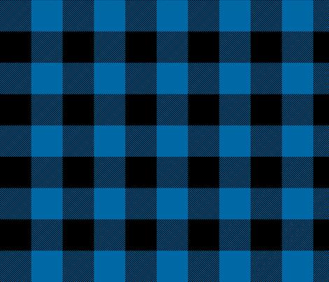 buffalo plaid 2in royal blue fabric by misstiina on Spoonflower - custom fabric