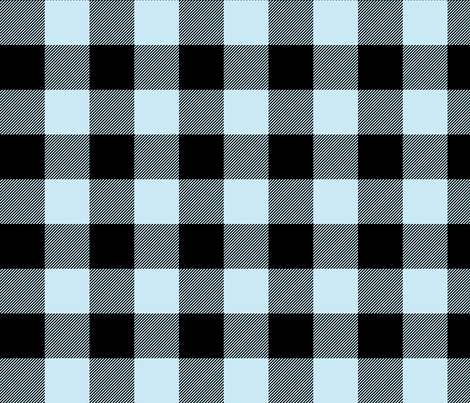 buffalo plaid 2in ice blue fabric by misstiina on Spoonflower - custom fabric