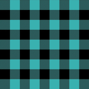 buffalo plaid 2in teal blue