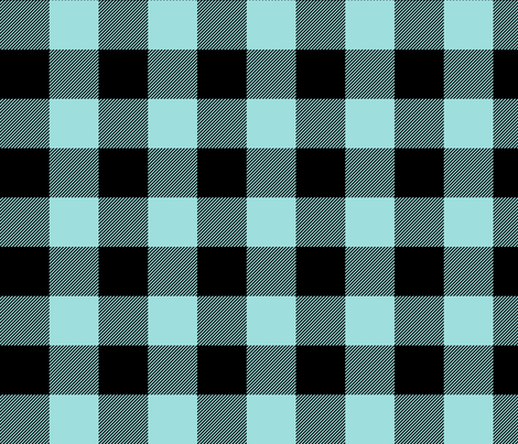 buffalo plaid 2in light teal blue fabric by misstiina on Spoonflower - custom fabric