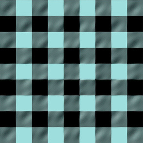buffalo plaid 2in light teal blue