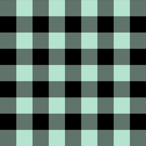 buffalo plaid 2in mint green