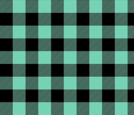 buffalo plaid 2in sea foam green fabric by misstiina on Spoonflower - custom fabric