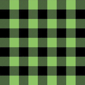 buffalo plaid 2in apple green
