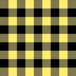 buffalo plaid 2in lemon yellow