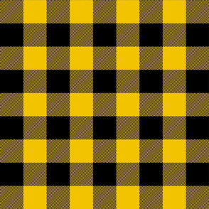 buffalo plaid 2in mustard yellow