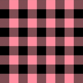 buffalo plaid 2in pretty pink
