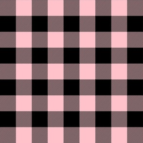 buffalo plaid 2in light pink