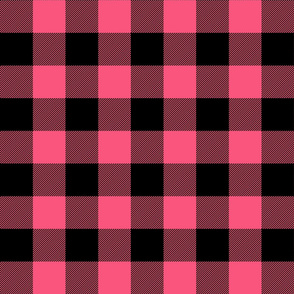 buffalo plaid 2in hot pink