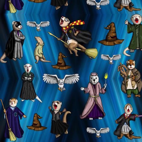 Magic_Ferrets fabric by deva_kolb on Spoonflower - custom fabric