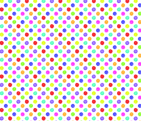 scribble  - little spots fabric by katybobsyouraunty on Spoonflower - custom fabric