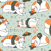 Kawaii neko sushi