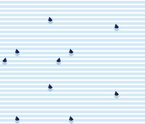 "Set Sail - ""Arctic"" fabric by popelephant on Spoonflower - custom fabric"