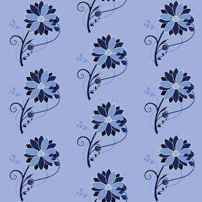 Stylized Flower - 6in (blue)