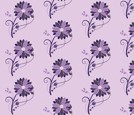 Stylized Flower - 6in (purple) fabric by studiofibonacci on Spoonflower - custom fabric
