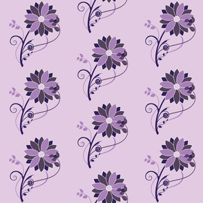 Stylized Flower - 6in (purple)