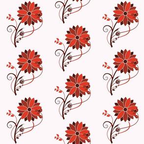 Stylized Flower - 6in (red)