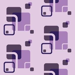 Stylized Flower Matching Blocks - 4in (purple)