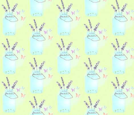 Jar Full of Love fabric by the_rural_rose on Spoonflower - custom fabric