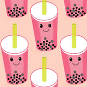 Kawaii bubble tea pink