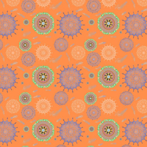 Boho Light Orange Smaller Print