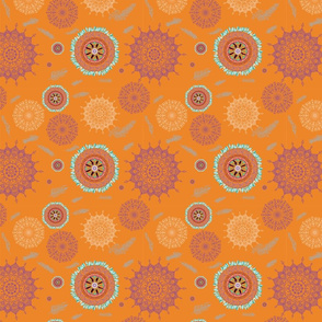 Boho Dark Orange Smaller Print