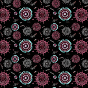 Boho Black and Pink Smaller Print