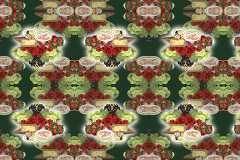 Can't Cook Hors d'oeuvres fabric by graphicglee on Spoonflower - custom fabric