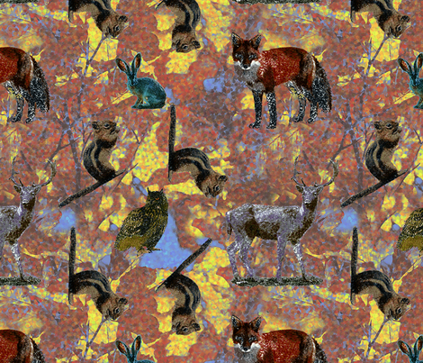Pointillism Critters fabric by whimsicalvigilante on Spoonflower - custom fabric