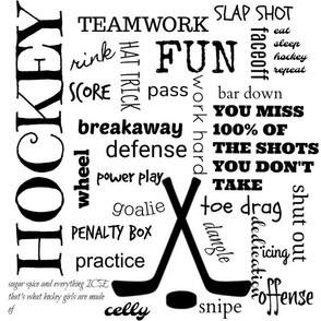 Girls hockey pattern