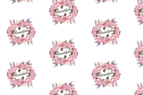 Beautiful- pink florals fabric by moonsheets on Spoonflower - custom fabric