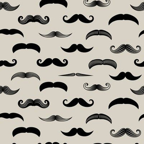 mustaches on beige