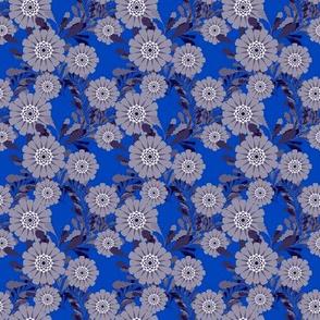 muted zinnias blue