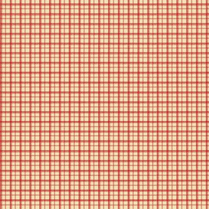 HH - Little Plaid Red on Cream