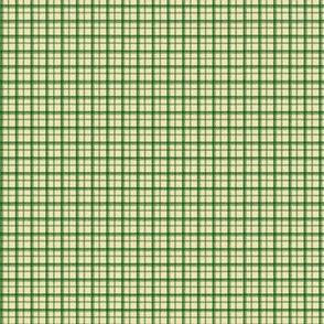 HH - Little Plaid Green on Cream