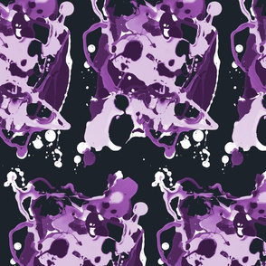 Dark Purple Splatter
