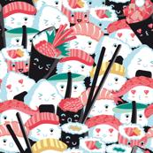 Kawaii Sushi Crowd