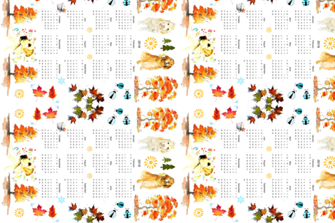 Year of the Dog 2018 fabric by floramoon_designs on Spoonflower - custom fabric