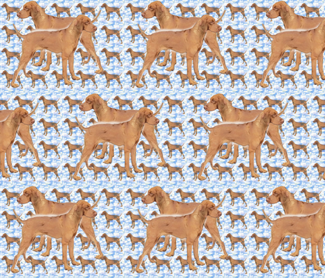 ridgeback_blue_pattern fabric by dogdaze_ on Spoonflower - custom fabric
