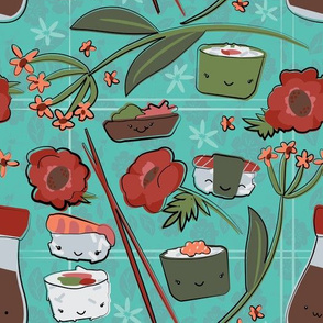Kawaii Sushi Floral