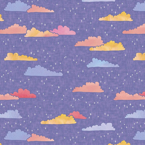 A Wish on Clouds and Stars - Lilac - Large Scale